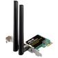 ASUS WiFi Adapter PCI-E PCE-AC51  (PCI-Ex1,  Dual-band  (2.4GHz / 5GHz),  WLAN 750Mps,  802.11ac,  +LowProfile) 2x ext Antenna