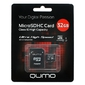 QUMO QM32GMICSDHC10U1 Micro SecureDigital 32Gb MicroSDHC Class 10 UHS-I,  SD adapter