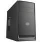 Cooler Master MasterBox E300L,  2xUSB3.0,  1x120Fan,  w / o PSU,  Black w / Silver line,  mATX