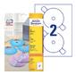 Этикетки Avery Zweckform CD / DVD L7676-25 A4 / 196г / м2 / 50л. / белый супер глянец самоклей. для лазерной печати