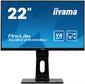 "Монитор Iiyama 21.5"" ProLite XUB2294HSU-B1 черный VA LED 4ms 16:9 HDMI M / M матовая HAS Pivot 1000:1 250cd 178гр / 178гр 1920x1080 D-Sub DisplayPort FHD USB 4.7кг"