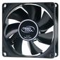 Вентилятор DEEPCOOL Xfan80 80x80x25мм  (240шт. / кор,  пит. от БП,  черный,  1800об / мин)  Color BOX