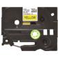 Наклейка ламинированная TZ-EFX631  (12 мм х 8 м  черный на желтом фоне)