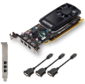 VGA PNY NVIDIA Quadro P400,  2 GB GDDR5 / 64 bit, 3xMini DisplayPort,  PCI-E 3.0,  miniDisplayPort - DVI-D,  3xminiDisplayPort - DisplayPort