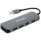Разветвитель USB 2.0 D-Link DUB-H4 4порт. черный  (DUB-H4 / E1A)