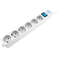 Surge protector Power Cube Pro 1, 9 m,  LC circuit,  6 outlets  (white) 16A  /  3, 5kVt