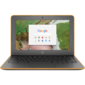 "HP Chromebook 11 G6 Celeron N3350,  4GB,  16гб SSD,  11.6"" HD BV UWVA Touch,  Chalkboard Gray  kbd TP,  Intel 7265 AC 2x2 nvP +BT 4.2,  Delicate Orange Textured,  Chrome64,  1yw"