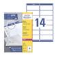 Этикетки Avery Zweckform L7163-100 A4 99.1x38.1мм 14шт на листе / 70г / м2 / 100л. / белый самоклей. универсальная