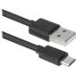 Defender USB кабель USB08-03BH USB2.0 черный,  AM-MicroBM,  1.0м  (87476)