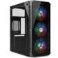 HIPER CASE HG-C103RGB EREBOS ATX,  SPCC0.5,  USB 3.0+USB2.0,  Front 3x120mm RGB Fan,  w / o PSU,  Black