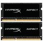 Kingston SODIMM  16GB 1866MHz DDR3L CL11   (Kit of 2) 1.35V HyperX Impact Black