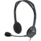 Наушники Logitech Гарнитура Stereo Headset H111,  серая,  длина кабеля 1, 8 м,  разъем 3, 5 мм,  микрофон с функц. шумоподавления