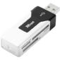 Trust Card Reader Robson Mini,  R-Flash / MicroSD,  SD / MMC,  MS,  Black [15298]