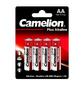 Camelion..LR 6  Plus Alkaline BL-4  (LR6-BP4,  батарейка, 1.5В)