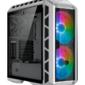 Cooler Master MasterCase H500P Mesh White,  USB3.0x2,  USB2.0x2,  2x200 ARGBFan,  1x140Fan,  Full Tower,  w / o PSU