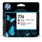 Печатающая головка HP 774 черная матовая и хромическая красная