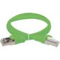 Коммутационный шнур  (патч-корд),  кат.5Е FTP,  1м,  зеленый