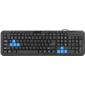 Defender #1 Проводная клавиатура HM-430 RU, черный, полноразмерная