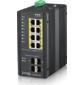 ZyXEL RGS200-12P. 12-ти портовый управляемый PoE коммутатор в промышленном исполнении,  возможность монтажа на DIN-рейку,  защита IP30,  PoE бюджет до 240 Вт,  питание от сети постоянного тока 12-58В