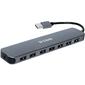 Разветвитель USB 2.0 D-Link DUB-H7 7порт. черный  (DUB-H7 / E1A)