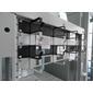 """Горизонтальный кабельный органайзер с окнами 19"""" 1U,  4 кольца,  ГКО-О-4.62"""