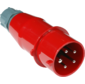 Вилка Lanmaster LAN-IEC-309-32A3P / M Вилка IEC 309 трехфазная,  папа,  32A,  380V,  разборная,  красная