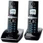 Panasonic KX-TG8052RUB 2-трубки с рез.питанием,  AOH,  Caller ID,   (подключ до 6 доп.трубок, ) cкиперфон,  200 ном.,  полифония 32,  ночной режим,  TFT дисплей цветной,  цифровой автоответчик,  чёрный