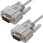 Greenconnect GCR-DB9CM2M-1.8m Кабель COM RS-232 порта соединительный 1.8m GCR-DB9CM2M-1.8m,  9M AM  /  9M AM Premium,  серый,  пластиковый пакет