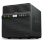 Synology  DS418j 1, 4GhzCPU / 1GB / RAID0, 1, 10, 5, 6, 10 / up to 4HDDs SATA (3, 5' ') / 2xUSB / 1GigEth / iSCSI / 2xIPcam (upto 16) / 1xPS repl DS416J