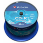 Диск CD-R 700МБ 52x Verbatim 43351 80min пласт.коробка,  на шпинделе  (50шт. / уп.)