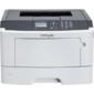 Lexmark MS415dn  белый,  лазерный,  A4,  монохромный,  ч.б. 38 стр / мин,  печать 1200x1200,  лоток 250+50 листов,  USB,  сеть