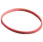 Резинки для купюр, диаметр 100 мм, 500 г, красные, в картонной упаковке, Alco