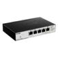 D-Link DGS-1100-05PD / U Настраиваемый коммутатор EasySmart с 5 портами 10 / 100 / 1000Base-T  (2 порта с поддержкой PoE 802.3af  (до 15, 4 Вт),  PoE-бюджет18 Вт  (802.3at) или 8 Вт  (802.3af),  1 порт для питания