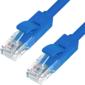 Greenconnect GCR-LNC01-3.0m Патч-корд прямой 3.0m,  UTP кат.5e,  синий,  позолоченные контакты,  24 AWG,  литой,  ethernet high speed 1 Гбит / с,  RJ45,  T568B