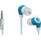 Наушники стерео Trendy-702 для MP3,  белый&голубой,  1, 1 м