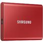 SSD Samsung T7 External 2Tb  (2048GB) RED TOUCH USB 3.2  (MU-PA1T0B / WW)