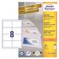 Этикетки Avery Zweckform 3660 A4 97x67.7мм 8шт на листе / 70г / м2 / 100л. / белый матовое самоклей. универсальная