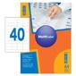 Этикетки Multilabel 40485255 A4 25.4x48.5мм 40шт на листе / 100л. / белый матовое самоклей. универсальная