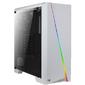 Aerocool Cylon White,  ATX,  без БП,  RGB-подсветка,  окно,  картридер,  1x USB 3.0 + 2x USB 2.0,  1х120-мм вентилятор в комплекте