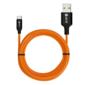 Кабель 1.0m TypeC,  для зарядки,  оранжевый,  AL корпус,  NO Sync data,  22AWG,  OEM-50504
