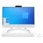 """HP 24-df0013ur AiO 23.8"""" (1920x1080) / AMD Athlon 3050U (Ghz) / 4096Mb / 128SSDGb / noDVD / Int:AMD Intergrated Graphics  / Cam / WiFi / war 1y / Snow White / DOS + USB KBD,  USB MOUSE"""