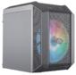 Cooler Master MasterCase H100 Mesh,  USB3.0x2,  1x200 ARGBFan,  1x RGB Controller,  Black-Iron Grey,  mITX,  w / o PSU