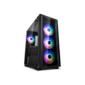 Deepcool MATREXX 50 ADD-RGB 4F без БП,  боковое окно  (закаленное стекло),  3xRGB LED 120мм вентилятора спереди и 1xRGB LED 120мм вентилятор сзади,  черный,  ATX