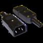 Lanmaster LAN-IEC-320-C14 Вилка IEC 60320 C14,  10A,  250V,  разборная,  черная