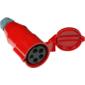 Вилка Lanmaster LAN-IEC-309-32A3P / F Вилка IEC 309 трехфазная,  мама,  32A,  380V,  разборная,  красная