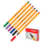 Набор ручек капиллярных Stabilo POINT 88 / 6  (88 / 6) 0.4мм 6цв. желтый ассорти чернила пластик.упю  (6шт)