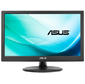 "ASUS VT168N 15.6"", Touch, LED, 16:9, 1366x768, 10ms, 200cd/m2, 50M:1, 90°/65°, D-SUB, DVI-D, регул. наклона, VESA, Black"