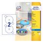 Этикетки Avery Zweckform CD / DV C9660-25 A4 / 196г / м2 / 50л. / белый супер глянец самоклей. для лазерной печати