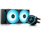 DEEPCOOL GAMMAXX L240T BLUE LGA20XX/LGA1366/LGA115X/AM4/AM3/+/AM2/+/FM2/+/FM1 (8шт/кор,TDP 250W, BlUE LED Lighting, PWM, DUAL FAN) RET