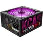 Блок питания Aerocool 750W Retail KCAS-750GM,  модульный,  ATX v2.4,  80+ Gold,  4+4-Pin,  4x PCI-E  (6+2-Pin),  7x SATA,  4x MOLEX,  14-см c RGB подсветкой